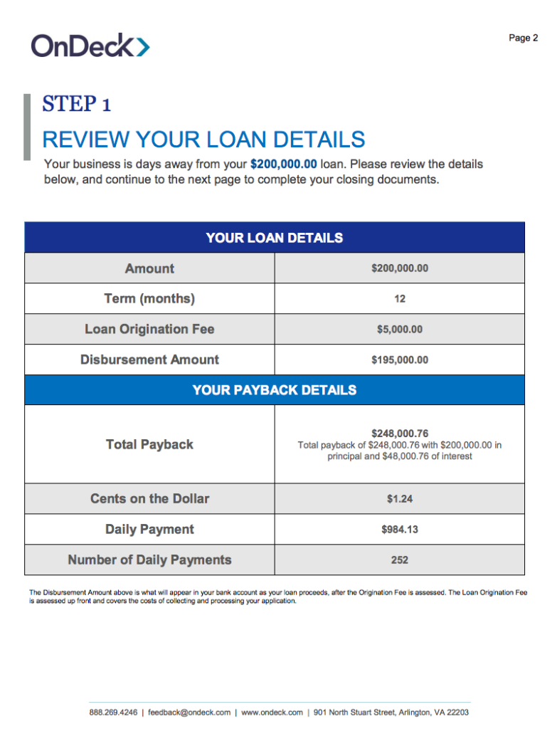 Step 1: Review Your Loan Details