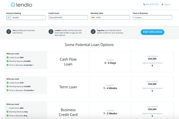 See Potential Loan Options