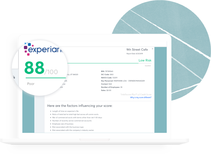 Your Experian Business Credit Report Nav